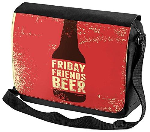 LEotiE SINCE 2004 Umhänge Schulter Tasche Bier Retro Freitag Freunde bedruckt Partykeller Fun
