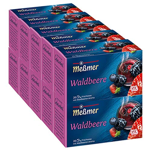 Meßmer Waldbeere, 20 Beutel, 10er Pack (10 x 55 g)