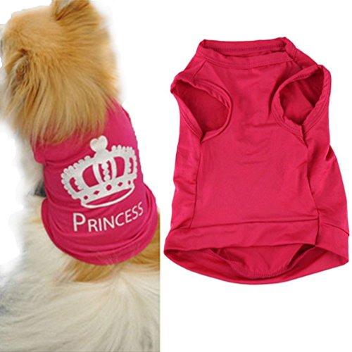 Ropa para Perros,Xinan Mascotas Princesa Camiseta Chaleco Trajes de Puggy (M)
