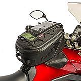 Dowco Fastrax 50143-00 Backroads Series: Water Resistant Reflective Motorcycle Tank Bag, Black, 27 Liter Capacity