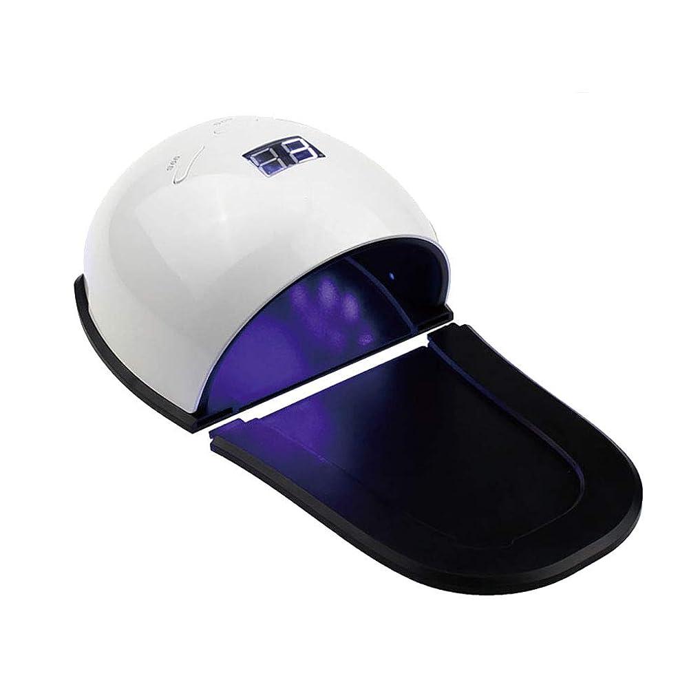 目的革新ベッド釘のドライヤー - 自動赤外線センサー、二重光源のLEDランプのゲルのドライヤーのマニキュアが付いている紫外線携帯用LEDの釘ランプ