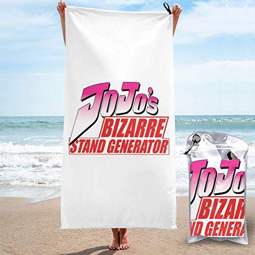 SHIJIAN Toallas de playa s Bizarre Adventure Logos Toalla de mano Sábanas de baño de lino er manta absorbente viajes grande piscina trajes de baño cubre toallas populares, 31.5 pulgadas x 63 pulgadas