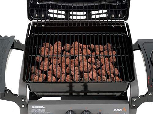 Sochef Saporillo Barbecue, Nero/Grigio, 46x125x103 cm