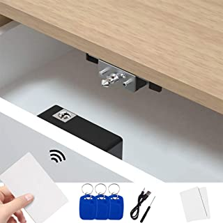TAKHRWOD Electronic Cabinet Lock, Cabinets Hidden DIY Lock, Hidden DIY for Wooden Drawer Cabinet RFID Card/Tag/Wristband E...