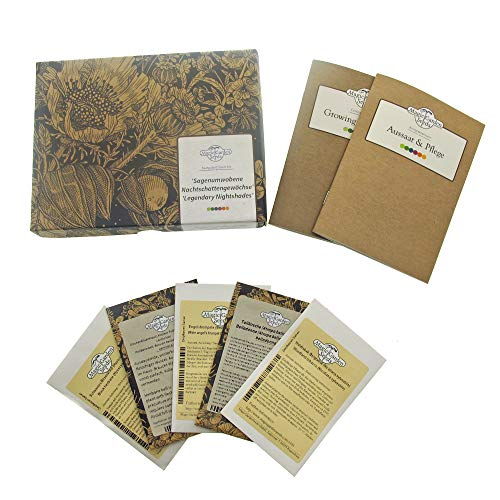 Sagenumwobene Nachtschattengewächse - Samen-Geschenkset mit 5 magischen Pflanzen