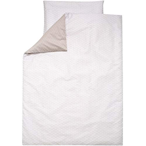 Alvi Bettwäsche für Kinderbett Raute taupe 100x135 cm 401209448