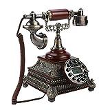 Teléfono retro antiguo de estilo antiguo, escritorio telefónico de Europa antigua FSK / DTMF Teléfono de marcación fija Teléfono fijo Volver a marcar con un botón para la decoración de la sala de esta