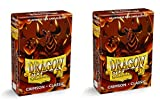 Dragon Shield Bundle: 2 Packs of 60 Count Japanese Size Mini Classic Card Sleeves - Crimson