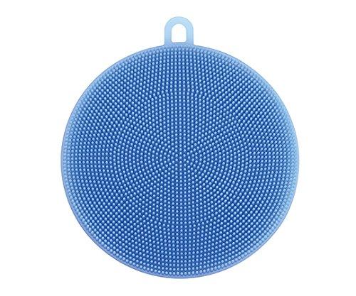 シリコンタワシ(食洗機可) Φ120×10mm ブルー /7-3577-02