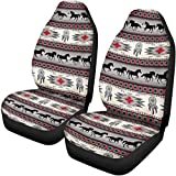 Advocator Aztec Horse Saddle Blanket Car Seat Covers for Front of 2,Vehicle Seat Protector Car Mat Fit Most Car,Truck,SUV,Van