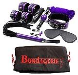 BONDAGERIE Kit modello'Master', Viola e Nero, da 8 Pezzi, con sacco in raso incluso