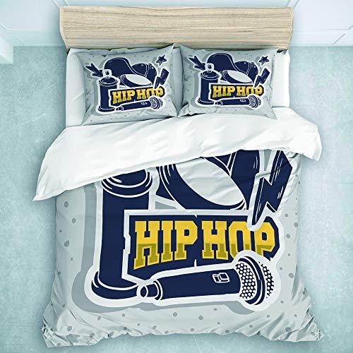 LOSUMIGE Bedding Juego de Funda de Edredón - Pegatinas de Hip Hop...