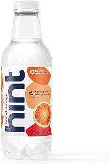 Hint Water Blood Orange, (Pack of 12) 16 Ounce Bottles, Pure Water Infused with Blood Orange, Zero Sugar, Zero Calories, Zero Sweeteners, Zero Preservatives, Zero Artificial Flavors