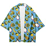 MIAOML Hombres Kimono Japonés Cardigan Coat Casual Loose Top Jacket,H-M