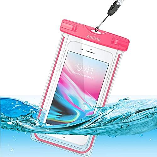 Anlixin wasserdichte Handytasche, Handyhülle Beutel Tasche Wasserfeste Handyhuelle Schützhülle für iPhone 12 Pro X XR XS MAX Samsung S21 Ultra S20 FE S10 S9 S8 Note 20 Oneplus 9 8T 8 Pro Pixel 5 4 XL