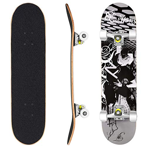ReDo Skateboard 26 x 7.25 Mini Branson Koi Cruiser Complete Skateboard for Boys Girls Kids Teens
