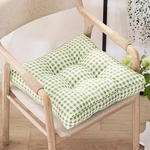 LJYY Cojín cuadrado redondo para silla, cojín grueso con estampado floral, cojín para el suelo, cojín para silla para interiores y exteriores, cojín para asiento R 45 x 45 cm