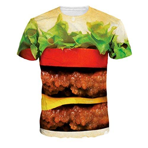 Camiseta de doble Hamburguesa humana