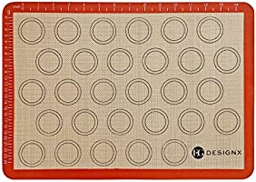 EG Designx Macaron Silicone Baking Mat for oven - Reusable Non Stick Baking Sheet - BPA free Professional Grade Liner...