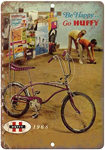 None Brand Huffy Fahrrad Banana Sitz Retro Wanddekoration Metall Blechschild bemalt Kunst Poster Dekoration Plakette Warnung Cafe Garage Party Spiel Zimmer Türschilder