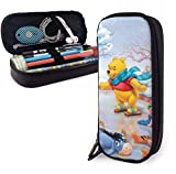 Winnie The Pooh Advent Calendar 2006 Big Capacity Pencil Case Leather Pen Case Stationery Bag Zipper Pouch Pencil Holder