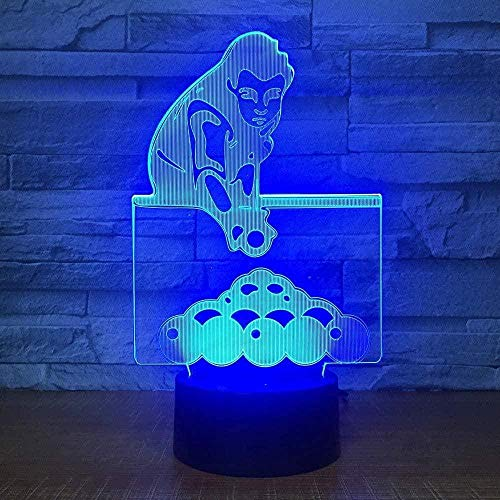 3D Illusion Lampe Pingpong LED Schlafzimmer Dekoration Lampe, 7 wechselnde Farben Touch Nachtlicht für Baby Schlafzimmer Dekoration Kinder Geschenk