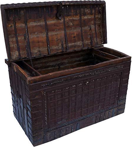 Guru-Shop Grote Indiase Huwelijkskist - Model 8, Bruin, 88x141x76 cm, Kisten, Dozen, Koffers