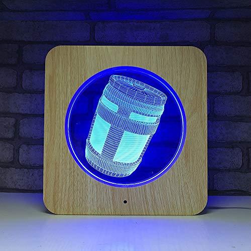 Asalto Tanque Noche luz plástico Grano línea luz Juego Serie lámpara de Mesa Ceremonia decoración de la habitación