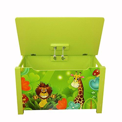 Homestyle4u Spielzeugtruhe Dschungel grün - 5