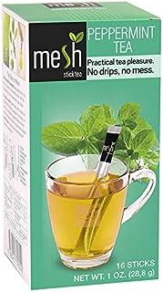 Mesh Peppermint Stick Tea | 96 Sticks (6 Pack of 16) | Premium Instant Tea | No Artificial Colors or Flavors, No Messy Tea...