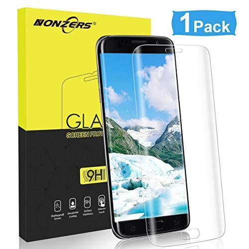 NONZERS Panzerglas Schutzfolie für Samsung Galaxy S7 Edge, Gehärtetem Glas Anti-Öl, Kratzer und Fingerabdrücke Blasenfrei Schutzfolie für S7 Edge