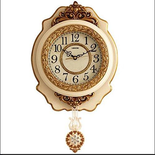 Kreative Uhr einfache Wanduhr im europäischen Stil Uhr Handwerk Uhr ( Color : A )