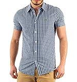Lacoste Camisa Regular fit de popelín de algodón con Cuadros - Color - Azul, Talla - 42