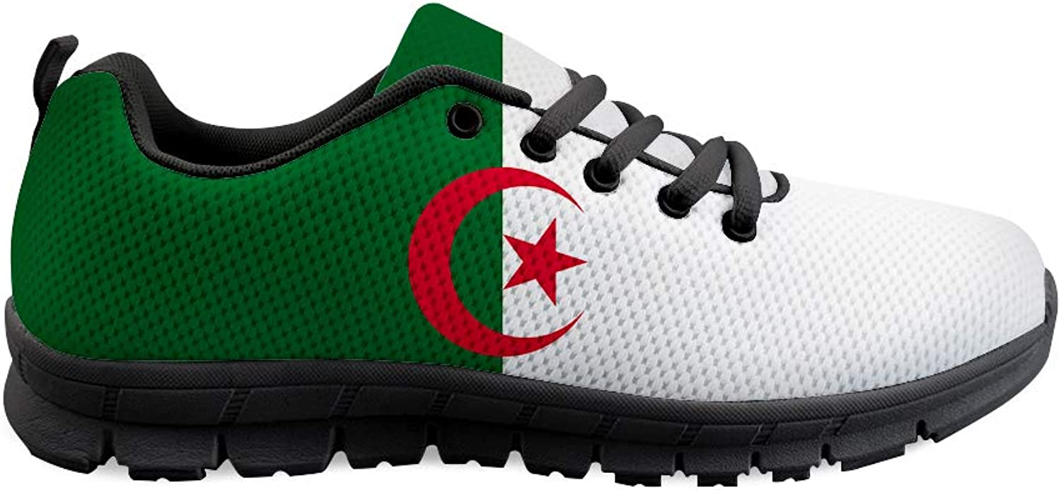 Owaheson Lace-up Sneaker Training shoes Mens Womens Algeria Flag