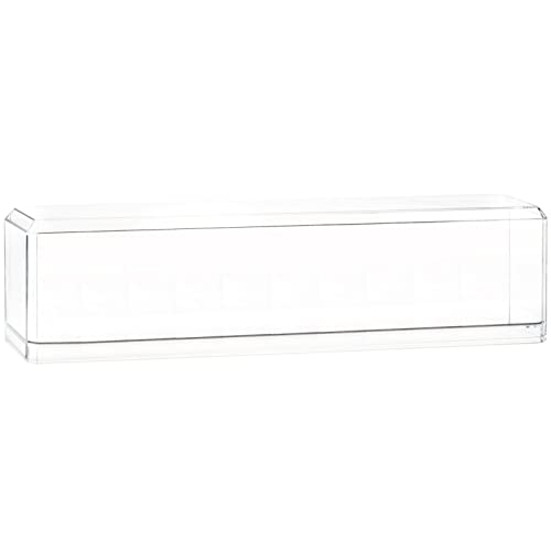 Pioneer Plastics - vitrine de Voitures Miniatures, Acrylique, de Bonne qualité, échelle 1/64, avec Pad adhésif 3M, très Long, avec Base réflecteur