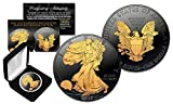 Black Ruthenium 1 Oz .999 Fine Silver 2017 American Eagle Golden Engima with Box