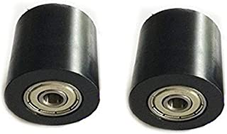 Driak 2pcs PU Coated Plastic Bearing Roller Guide Pulley Bearing Wheel Pinch Roller For Door Instrument Toy Roller Skates,53030mm