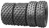 Set of 4 WANDA Sport ATV Tires AT 21x7-10 Front & 22x10-9 Rear /4PR - GNCC Race