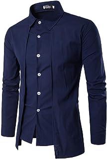 [ Smaids x Smile (スマイズ スマイル) ] ドレス シャツ 長袖 トップス ボタン モード デザイン 襟 フィット メンズ