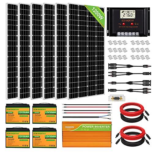ECO-WORTHY 1200 Watt 24V Solar Power System Kit...