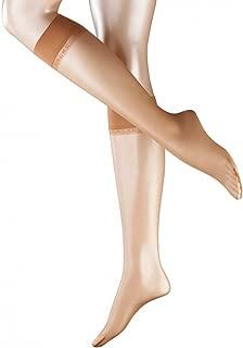 Falke Womens Shelina 12 Denier Ultra-Transparent Sensitive Top Shimmer Knee-High Tights - Powder