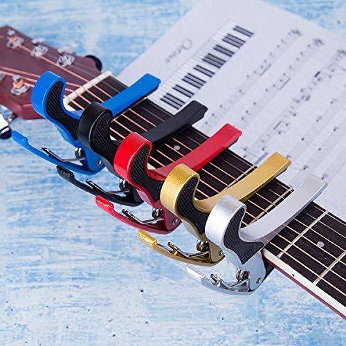 5 Piezas Guitarra Capo Aluminio Metal Universal Guitarras Eléctricas Acústicas Y Clásicas...