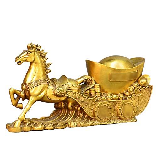Yiwu Yici Koper Paard Decoratie Schat Basin Rijkdom Porsperity Figuur Beste Huiswarming Gefeliciteerd Gift Voor Kantoor