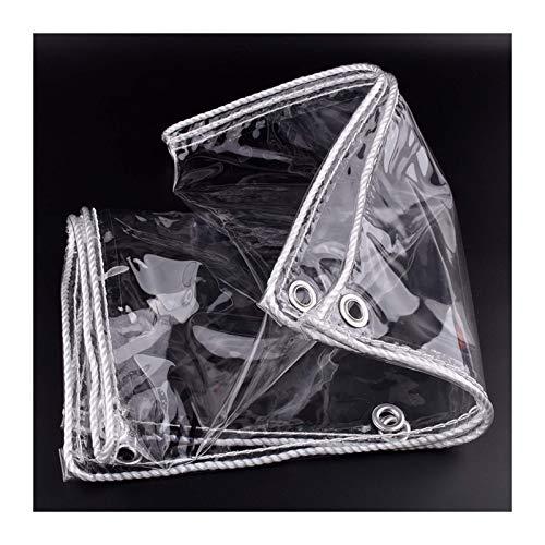 GHHZZQ Toldo Lona Alquitranada Al Aire Libre Impermeable Pesado Plástico Transparente A Prueba de Viento Invernadero Mantener Caliente Cubierta de Lona (Color : Clear, Size : 1.4x3m)