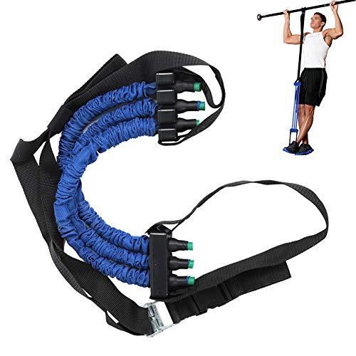 logozoee Cuerda para dominadas, Tirador para Tirar hacia Arriba, Entrenador Abdominal, Entrenamiento Ajustable para Gimnasio en casa(Blue, 6 * 12 * 50cm)