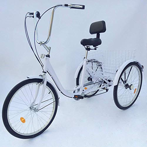 PRIT2016 24' 6 Speed 3 Wheel Adult Tricycle Adjustable Adult Bicycle Cycling...