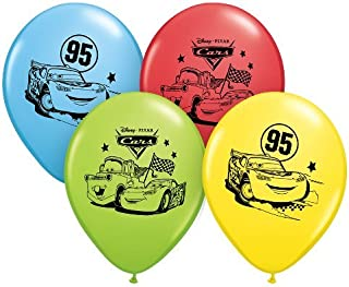 Pioneer Party Group Officially Licensed Disney Pixar 12-Inch Latex Balloons, Cars Assorted Colors, 6-Count