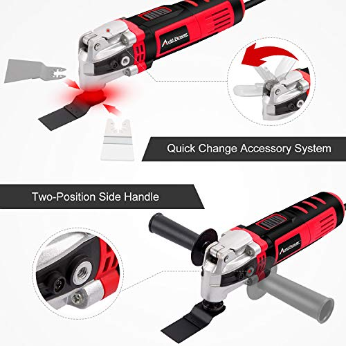 AVID POWER Oscillating Tool, 3.5-Amp Oscillating Multi Tool with 4.5°Oscillation Angle, Variable Speeds and 13pcs Accessories