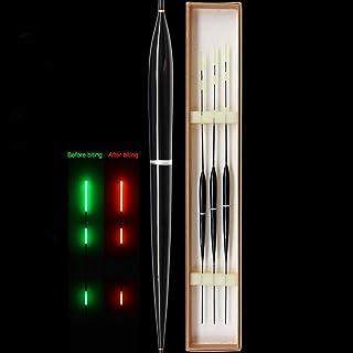 mit Knopfbatterie biback LED Posen Raubfischposen Friedfischposen Nacht Leuchtende Schwimmer Schwimmt Led-Licht Automatisch Erinnern Schwimmer