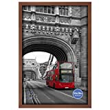 RPJC Solid Wood 24x36 Inch Wide-frame Poster Frames for Wall Mounting Hanging Picture Frame Brown